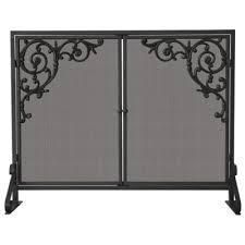 Fireplace Metal Screen by Hyde Park Flat Panel Fireplace Screen With Doors Improvements