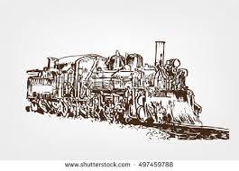 steam locomotive sketch stock vector 539972038 shutterstock