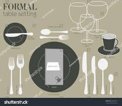Table Setting by Formal Table Setting Formal Dining Table Setting Stock Vector