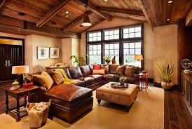 Family Room With Sectional Sofa Cool Rustic Leather Sectional Sofa Leather Sectional Recliner For
