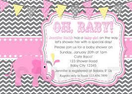 baby shower invites for girl baby shower invitations girl elephant pink invite printable