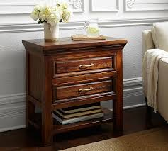 bedside stand bowry reclaimed wood nightstand pottery barn
