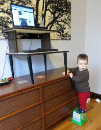 make your own mid century modern standing desk projectophile