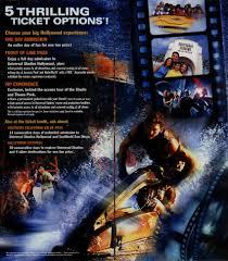 theme park brochures universal studios hollywood theme park