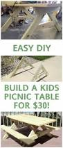 Building Plans For Small Picnic Table by Easy To Make Kids Picnic Table For About 20 And Will Last Forever