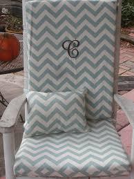 White Rocking Chair Cushion Outside Rocking Chair Cushions Indoor Outdoor Solid Color Rocking