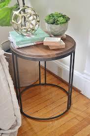 tj maxx side tables wood and metal industrial side table industrial table industrial