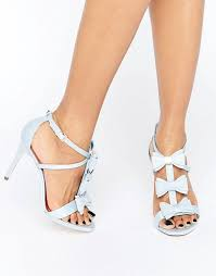 wedding shoes ted baker ted baker appolini light blue bow heeled sandals ted baker