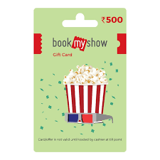 gift card book book my show gift card rs 500 price in india buy book my show
