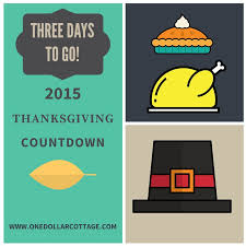 thanksgiving countdown three days to go checklist one dollar