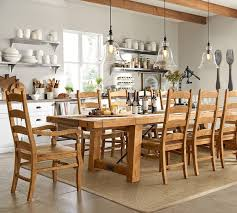 wood table new modern pottery barn dining table design pottery