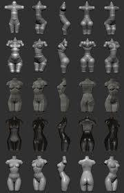 Female Body Reference For 3d Modelling Zbrush Creating Woman Torso From Zspheres Step By Step Technique
