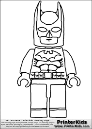 Lego Batman Front Coloring Lego Lego
