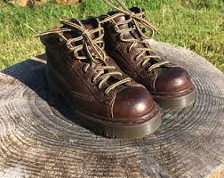 womens work boots uk vintage brown leather work boots size 8 s