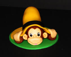 curious george cake topper cake edible curious george etsy