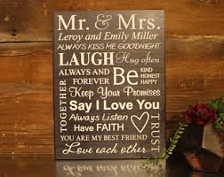 personalized wedding plaque mr and mrs plaque etsy