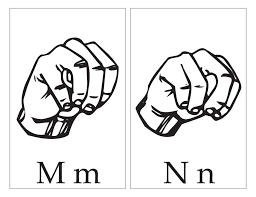 asl with capital and small letter mm nn download free asl with