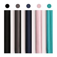 Black Out Curtain Fabric Amazon Com Deconovo Navy Blue Striped Blackout Curtains Rod