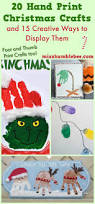 20 hand print christmas crafts and 15 creative ways to display