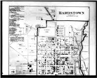 kentucky map bardstown nelson and spencer counties 1882 kentucky historical atlas