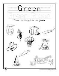 Crafts Actvities And Worksheets For Preschool Toddler And Kindergarten Green Coloring Page