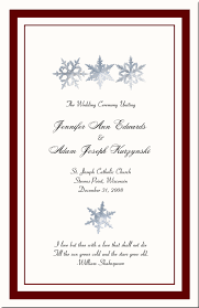 christmas wedding programs winter theme wedding program snowflake church directory christmas