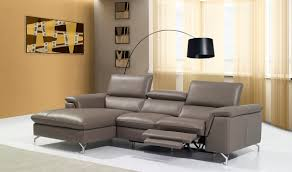 Left Sectional Sofa Angela Premium Leather Sectional Sofa In Brown Free Shipping