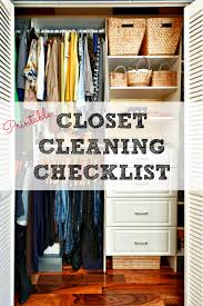cleaning closet closet cleaning checklist get your closet clean and organized today