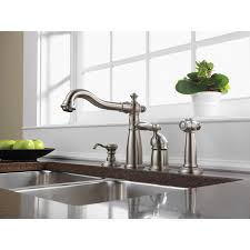 kitchen faucets get a modern or traditional kitchen sink faucet delta stainless steel victorian collection single handle kitchen faucet with sidespray and deck mount soap dispenser