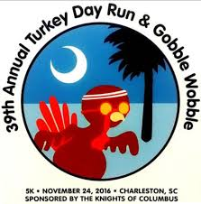 39th annual turkey day run gobble wobble 5k charleston events