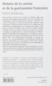 amazon fr histoire de la cuisine et de la gastronomie françaises