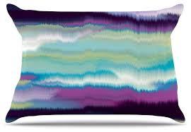 may artika blue teal purple pillow contemporary