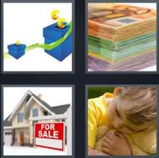 4 pics 1 word blue box money for sale hugging