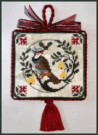 milady s needle just cross stitch ornament issue
