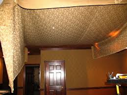 Unfinished Basement Ceiling by Amazing Chic Basement Ceiling Fabric Basements Ideas