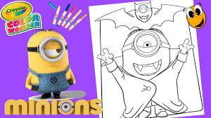 dracula minions coloring pages stuart crayola mess free coloring