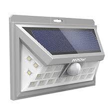 solar powered sensor security light mpow 24 led solar lights motion sensor security lights solar