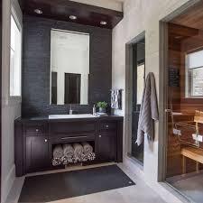 black tile bathroom ideas black and brown bathroom ideas houzz
