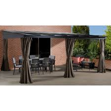 Retractable Awning Costco Sojag St Barthelemy Wall Sun Shelter 1700 Costco Ca Patio