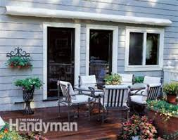 How To Build A Wood Awning Over A Deck How To Shade Your Deck Or Patio Family Handyman