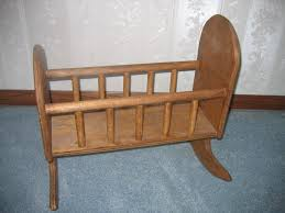 Antique Baby Cribs For Sale by Custom Made Wooden Baby Doll Kids Play Rocking Cradle For Sale