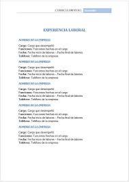formato hoja de vida 2016 colombia experiencia laboral en hoja de vida hoja vida pinterest hoja