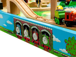 Thomas The Train Play Table Thomas U0026 Friends Wooden Railway U2013 Tidmouth Sheds Deluxe Set With