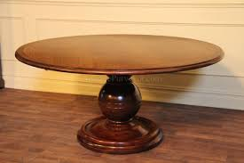 Round Casual Mahogany Kitchen Table Pedestal Dining Table - Mahogany kitchen table