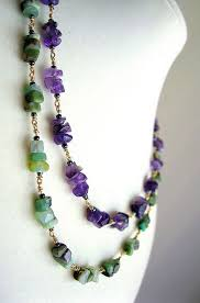 beaded stone necklace images 43 best gemstone necklaces images jewelry ideas jpg