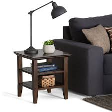 Simpli Home Warm Shaker Tv Stand Simpli Home Acadian Tobacco Brown Storage End Table Axwell3 003