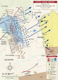 Mountain Map Cedar Mountain August 9 1862 Civil War Trust