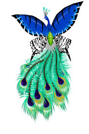 peacock drawings peacock butterfly tattoo by yoh sl digital art