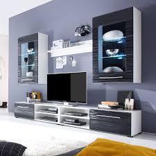 Wohnzimmerschrank Ohne Tv Fach Wohnwand Schwarz Weiss Preisvergleich U2022 Die Besten Angebote Online