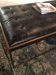 coffee tables splendid streamer trunk leather coffee table